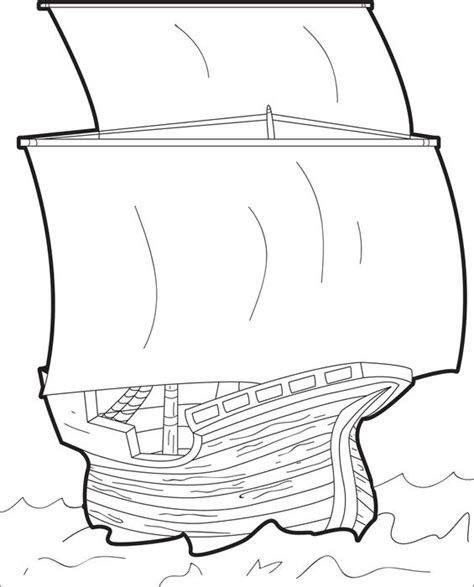 The Mayflower Free Printable Coloring Page For Kids Mayflower Coloring Page