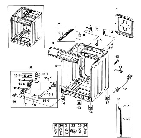samsung front load washer parts diagram samsung washer parts model wf218anwxaa0000 sears