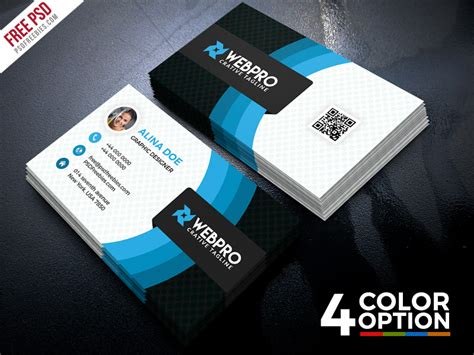 corporate business card templates free corporate business card free psd set psdfreebies