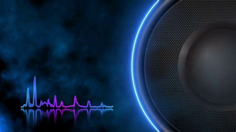 speaker background speaker animation that plays low bass frequencies
