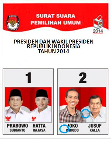 gambar cara mencoblos surat suara pilpres 2014 hasil