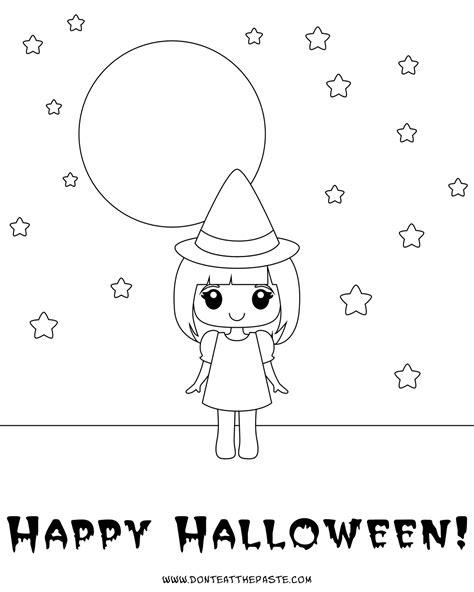 don t eat the paste cute witch box and coloring pages