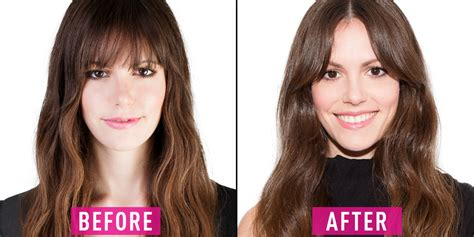 women with bangs before and after how to grow out your bangs