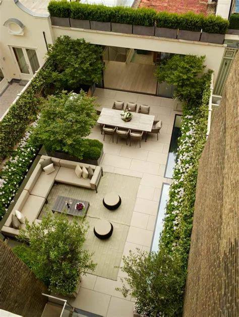 House Plan Rectangle With Courtyard Terrasses Et Jardins 54 Salons De Jardin Et Canap 233 S