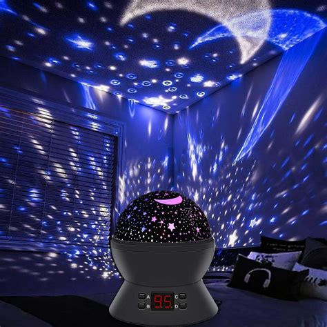 star light projector night light black big white box