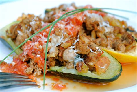 baked zucchini boat recipes baked zucchini boats bev cooks