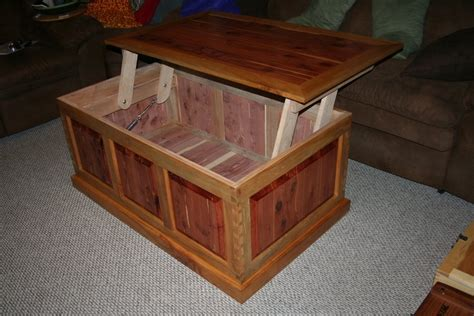 Cedar Coffee Table Plans Raised Panel Cedar Maple Lift Top Coffee Table By Dynamike Lumberjocks Woodworking