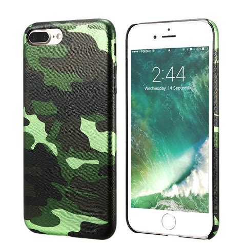 Iphone 7 Leather Back Cover kisscase camouflage for iphone cool