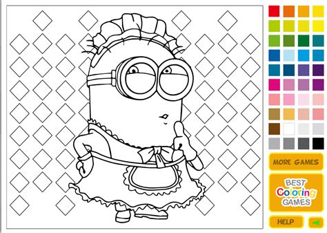 minions coloring pages games minion games free kids games online kidonlinegame com