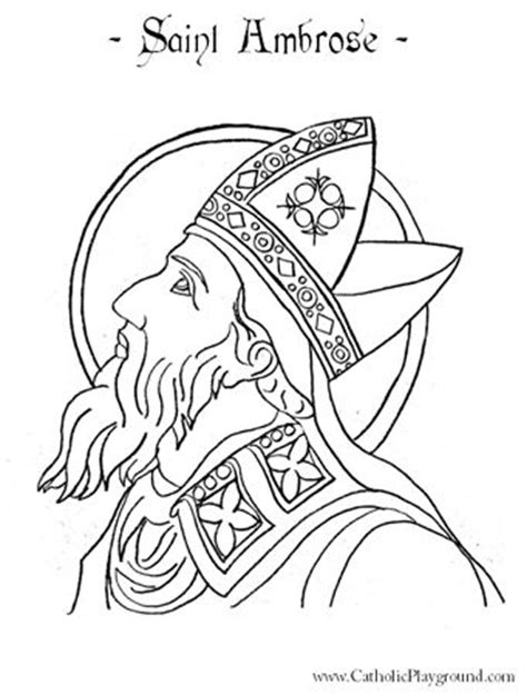 St Ambrose Catholic Saint Coloring Page For Children St Coloring Pages Religious