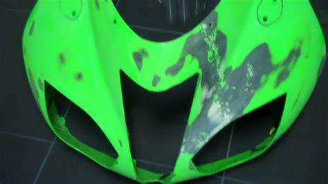 spray painting dirt bike plastics motorcycle fairing repair on abs plastic part 1
