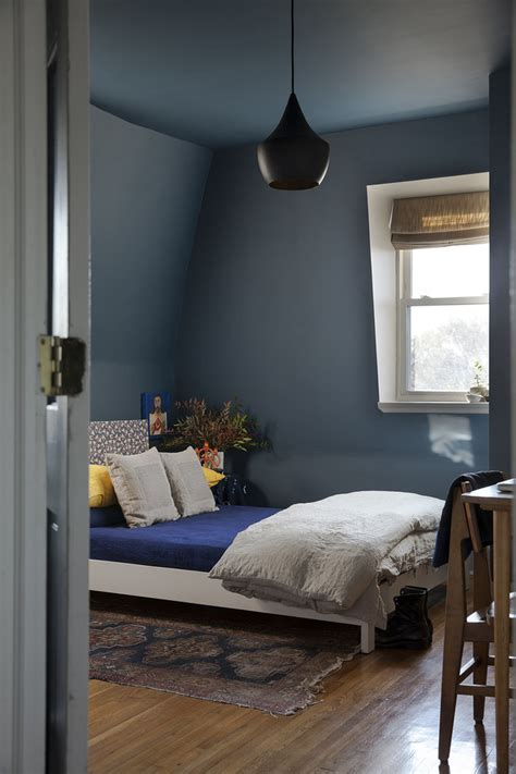 blue painted bedrooms before after a color conscious bedroom refresh