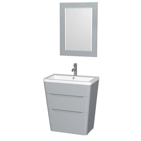 Bathroom Vanity Pedestal Caprice 30 Quot Bathroom Pedestal Vanity Set With Integrated Sink By Wyndham Collection Gray