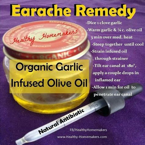 ear ache home remedy home remedies