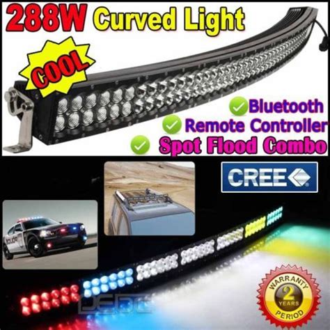 ebay led light bar cree 288w 52 curved led light bar wireless remote