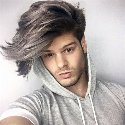 grey hair color on coolest guys on planet mens 86 fantastiche immagini su hair style su pinterest brad