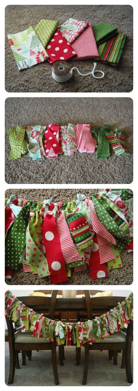 make a rag strip christmas tree garland decoration ideas the xerxes