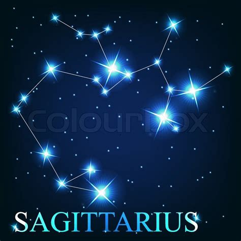 vector of the sagittarius zodiac sign of the beautiful
