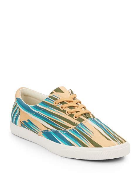 bucketfeet swopes striped canvas platform sneakers in blue