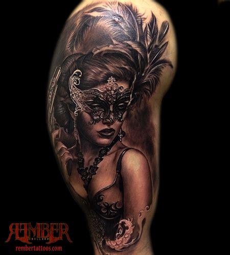 dark ages tattoo rember age studio masked portrait