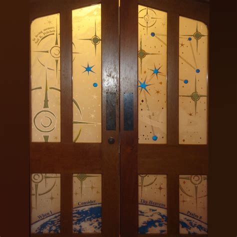 St Johns Window And Door by Sandblasted Celestial Doors Steven Cartwright Glass Designs