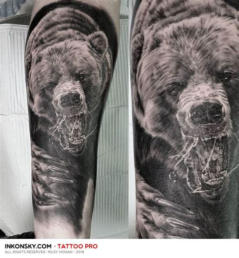 bear sleeve tattoo designs 25 best ideas about grizzly tattoos on