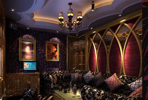 Neoclassical Interior Design ktv room ceilings and chandeliers ideas