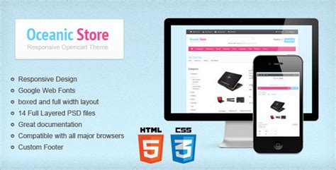 themeforest yourstore oceanic store themeforest responsive opencart theme