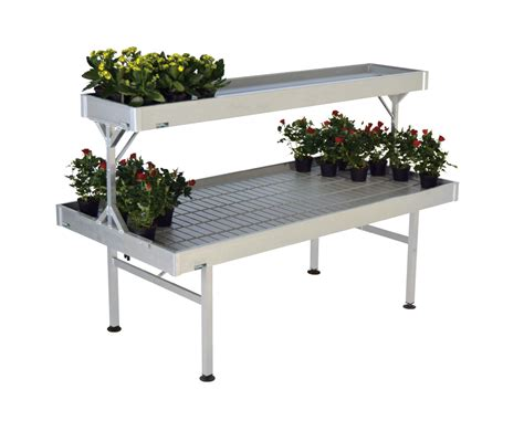 bench cost raised aluminum bench 1025 x 2055 mm ebb and flow system benches and display