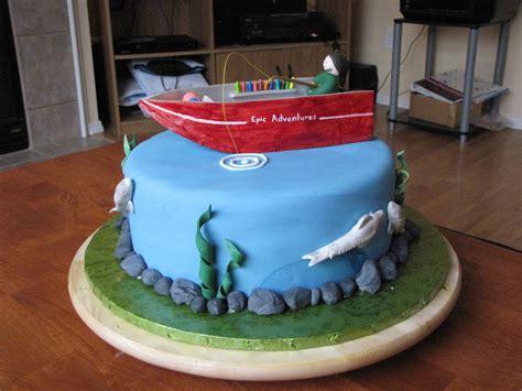 fishing boat cake tutorial fishing cake cakecentral