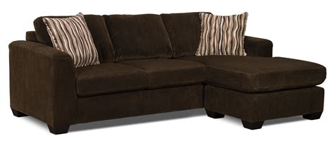 microsuede sectional with chaise nina 2 piece microsuede sectional with chaise chocolate