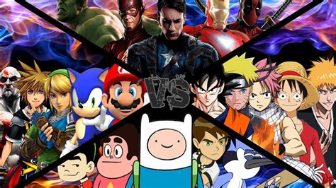 anime vs vs comics vs videojuegos vs anime dlrh t2 mid