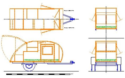 teardrop cer floor plans teardrop trailer plans pdf