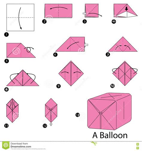 How To Fold A Paper Balloon - origami origami water balloon origami water bomb step by