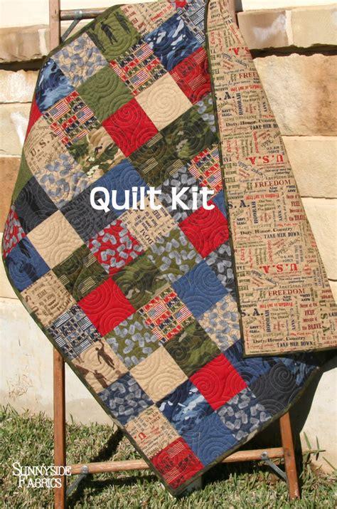 last five quilt kit usa patriotic army navy coast