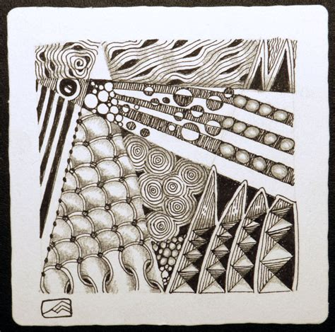 zentangle pattern knase zentangle 174 crafthatchery page 7