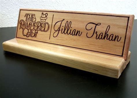 custom office name desk sign plate by customsignworks on