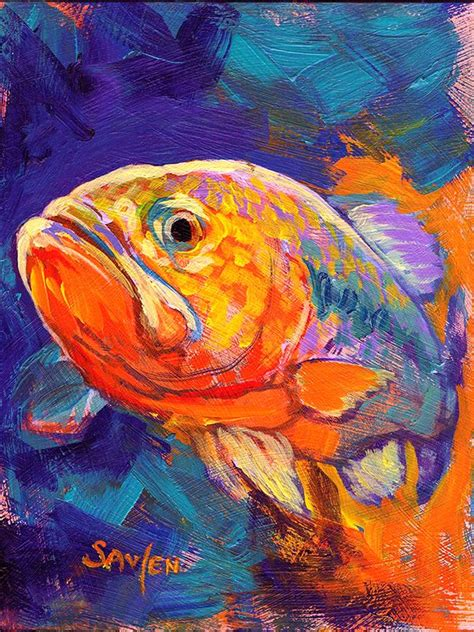 acrylic painting fish 16 best daily paintings fish and other things images