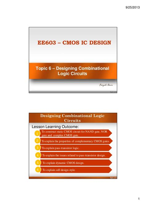 cmos layout design techniques cmos topic 6 designing combinational logic circuits