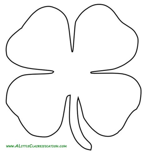clover template gallery four leaf clover writing template