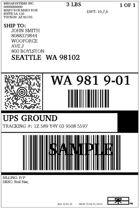 Ups Shipping Label Template Word Made By Creative Label Ups Shipping Label Template