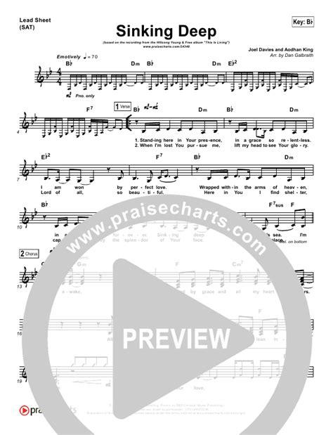 sinking piano sheet sinking lead sheet piano vocal hillsong