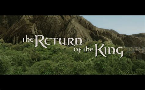 The Return Of by The Lord Of The Rings The Return Of The King B