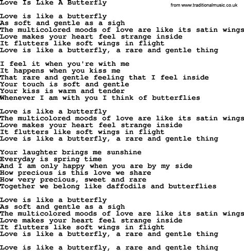 and butterfly lyrics dolly parton song is like a butterfly lyrics