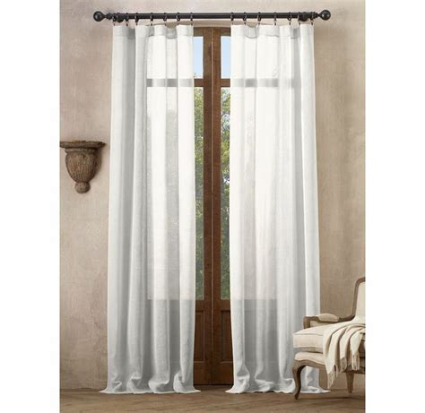 restoration hardware curtains sale open weave sheer linen drapery in optic white
