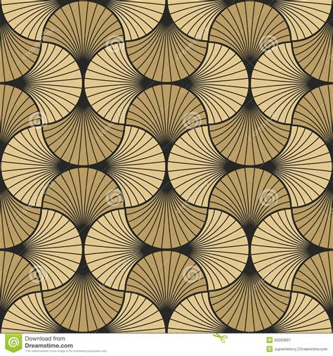 pattern art images art deco pattern of overlapping arcs stock vector image