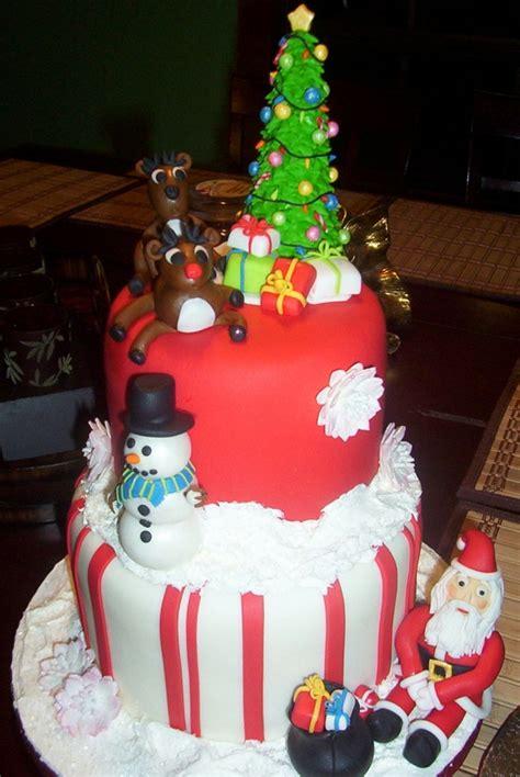 christmas themed birthday cake cakecentralcom