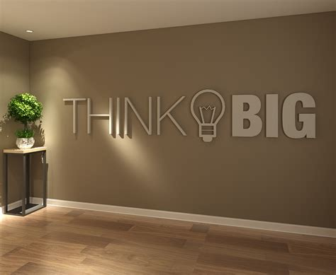 wall decor for office think big office decor 3d moonwallstickers