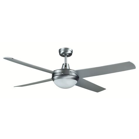 Rotor 52 Inch Led Ceiling Fan With Abs Blades In Brushed Aluminum Ceiling Fan