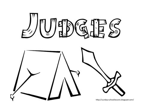 Coloring Pages For The Book Of Judges | book of judges free coloring pages for kids sunday